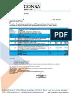 COTIZACION N°121MS2021-SERVICIO DE EXCAVACION DE ZANJA