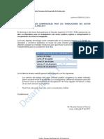 DÍAS NO LABORABLES COMPENSABLES TRABAJADORES SECTOR PÚBLICO EJERCICIO 2011