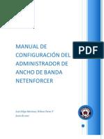 MANUAL DE CONFIGURACION DEL ADMINISTRADOR DE ANCHO DE BANDA NETENFORCER