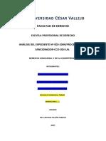d. Concursal (Análisis Del Exp. Nº003-2004)