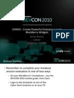 COM32-Create Powerful Enterprise-ready Widgets