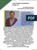 Em busca de uma ordem económica mundial multipolar (1)