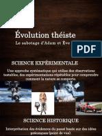Évolution Théiste Le Sabotage d'Adam Et Ève