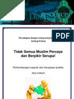 2-Tidak Semua Muslim Percaya