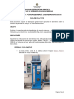 Hidráulica - Guía Laboratorio 1 - Pérdidas de Energía