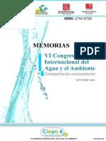 MEMORIAS VI Congreso Internacional del Agua y el Ambiente Ciaya6