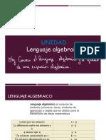 Lenguaje algebraico 2° medio - 2MA