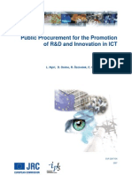 Public Procurement for the Promotion of R&D in ICT