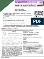 Je Comprends Le Sens Dun Texte CM2 Gamme de Lecture Correction
