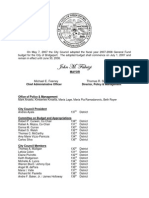 Bridgeport CT Adopted Budget 2007-2008