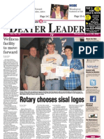 The Dexter Leader Front Page