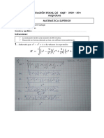 Evaluación Final(a) Matemática Superior Gqt 2020 - 20a