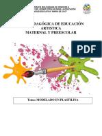 Guía Modelado de Plastilina Preescolar