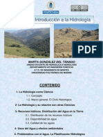 Tema1 INTRODUCCION A LA HIDROLOGIA