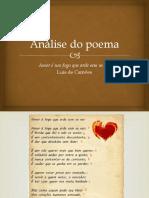 Exemplo de uma análise de um poema