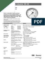 Manomètre industriel DN 160