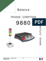 Mode d-emploi  balance 9880