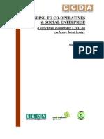 Lending to Co-Operatives and Social Enterprises