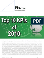 Top 10 KPIs of 2010 smartKPIs.com