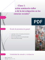 Clase 1 - Presentación Del Curso - Metodologia de Investigacion Posgrado