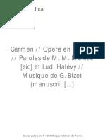 Carmen - Act I (Manuscrit) - BNF