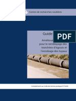 Guide Pratique Amélioration Des Sols Pour Le Remblayage Des Tranchées d'Égouts Et l'Enrobage