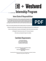 Westword Summer Internship