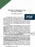 Canguilhem, Dialectique et Philosophie du non chez Bachelard
