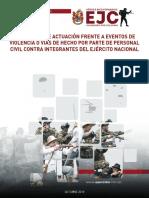 Protocolo Actuación Eventos Violencia o Vías de Hecho EJC - 2019