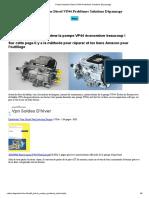 Pompe Injection Diesel VP44 Problèmes Solutions Dépannage