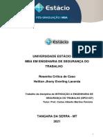 TRABALHO - Introdução a Eng. de Segurança Do Trabalho