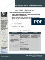 Plugin Approaches to Writing a Business Plan