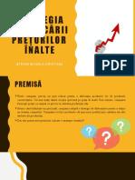 Strategia Practicării prețurilor înalte