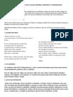 DESARROLLO DEL TALLER PRIMERA COMUNION Y CONFIRMACION