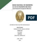 Informe Practicas Pre-profesionales, Pardave (1)
