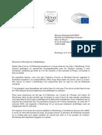 2021.04.21 - Courrier E.macron Siège PE Strasbourg