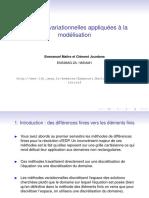 Méthodes Variationnelles Appliquées à La Modélisation