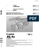 Canon Xl-1 user manual