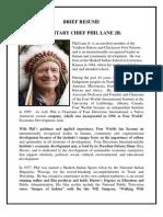 Resume- Hereditary Chief Phil Lane Jr
