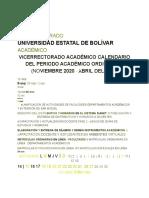 CALENDARIO PAO II 2020-2021
