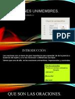 Diapositiva de Las Oraciones Unimembres 1