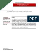 PRIVACIDADE EM BIG DATA PANORAMA E AGENDA DE PESQUIS