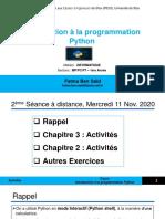 2ème Séance Informatique à distance - 1èreAnnée_IPEIS2020