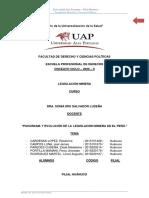 TRABAJO FINAL - LEGISLACIÓN MINERA-FILIAL HUÁNUCO-