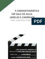 CINEMA EM SALA DE AULA