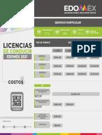 """Costo Licencia tipo """"E"""" Estado de México 2021"""