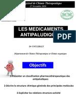 Cours Antipaludiques 2019