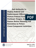 DHS Had Authority to Deploy Federal Law Enforcement Officers to Protect Federal Facilities in Portland, Oregon, but Should Ensure Better Planning and Execution in Future Cross-Component Activities