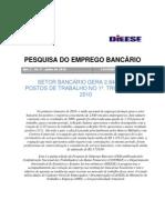 dieese admisoes e demissoes setro bancario 2010