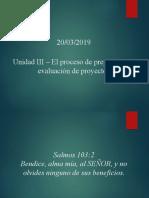 Unidad III - El Proceso de Preparación y Evaluación de Proyectos